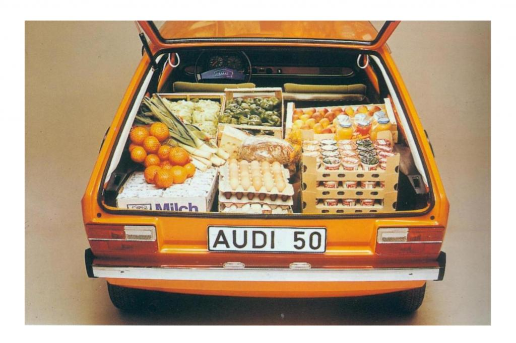 Dank großer Heckklappe bot der Audi 50 jede Menge Platz
