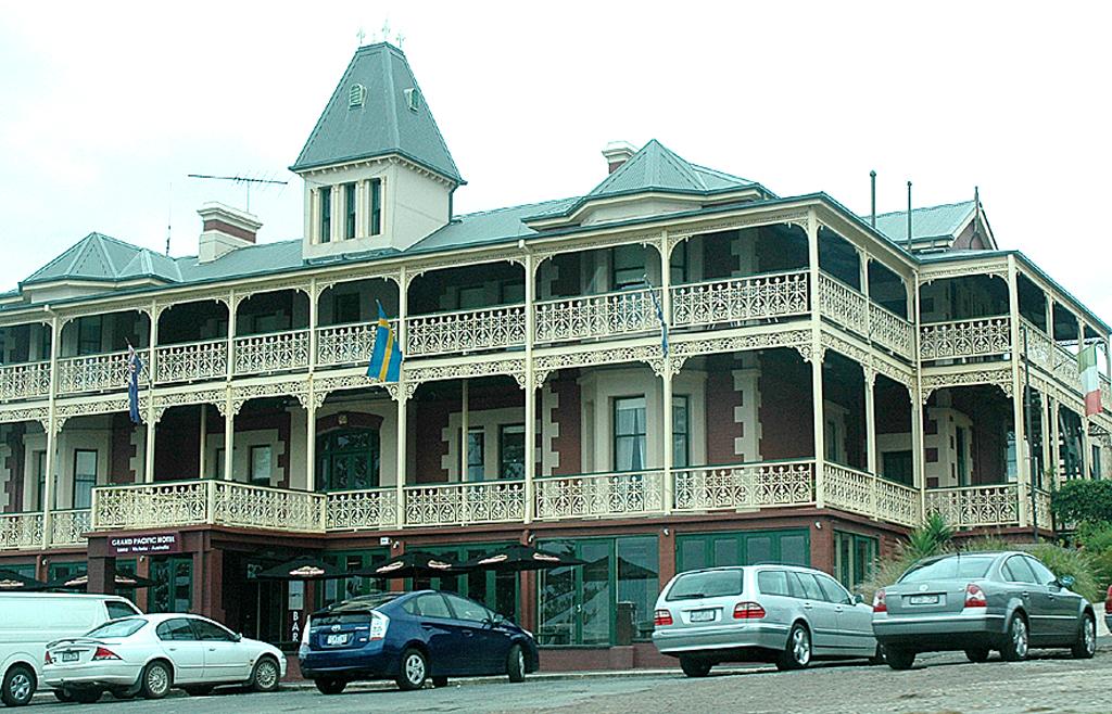 Der viktorianische Baustil in Victoria ist gegenwärtig.
