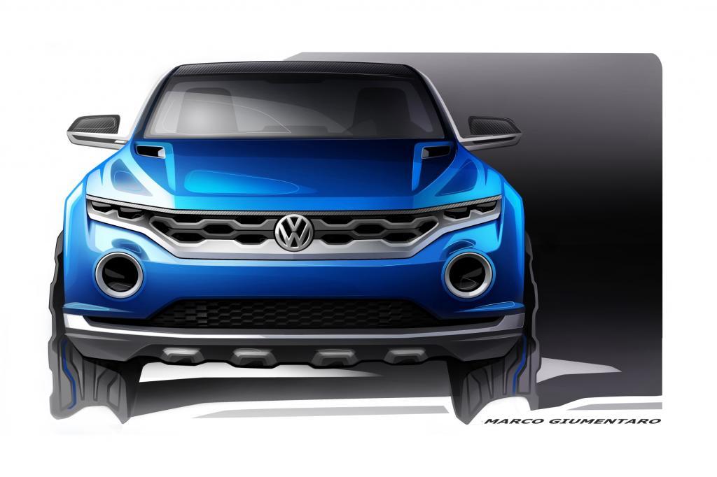 Die Frontpartie unterscheidet sich dabei deutlich von dem bisherigen Gesicht der Wolfsburger SUV-Familie: Ein großer, wabenförmiger Grill, sehr schmale und zusätzlich runde LED-Scheinwerfer prägen die Front.