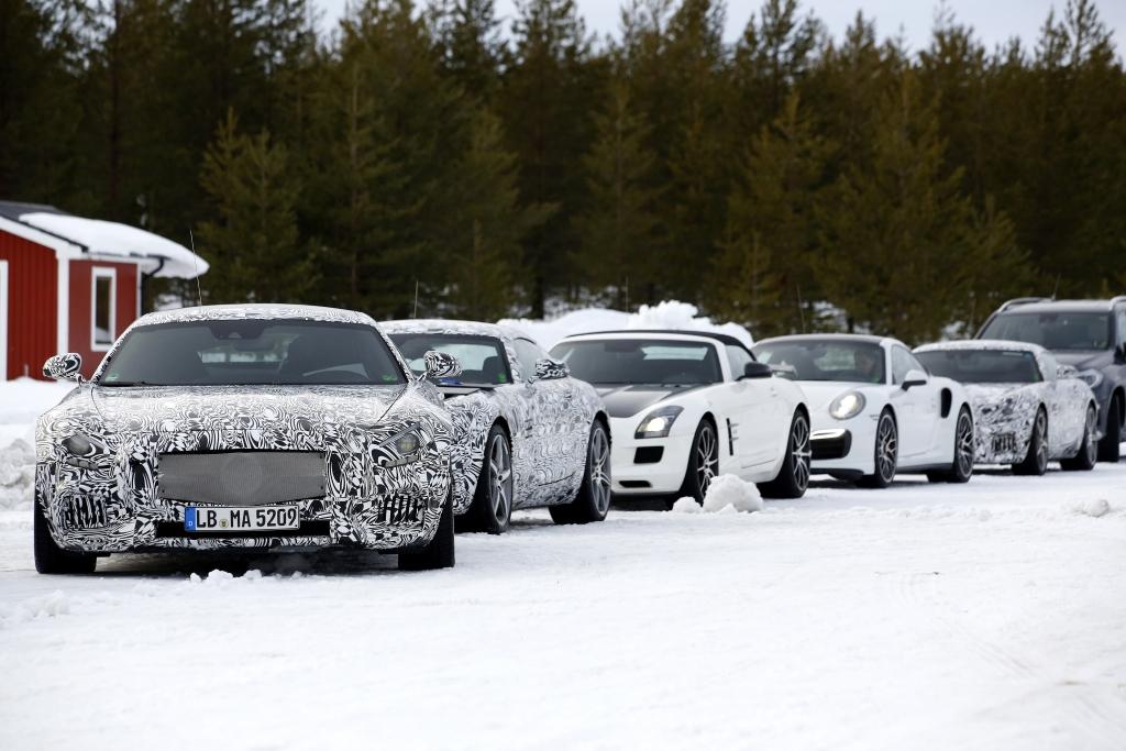 Erwischt: Erlkönig Mercedes GT AMG - Kräftemessen mit Porsche