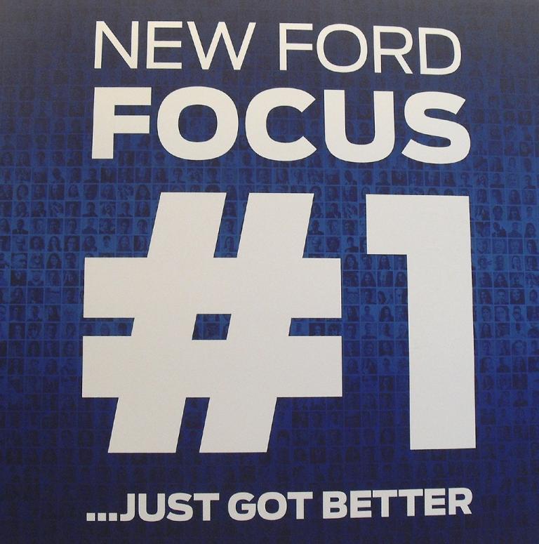 Ford-Versprechen: Der neue Focus ist, heißt es hier, noch besser.