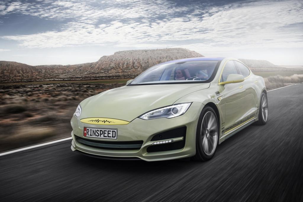 Gut zu erkennen: Der XChange basiert auf dem Tesla Model S
