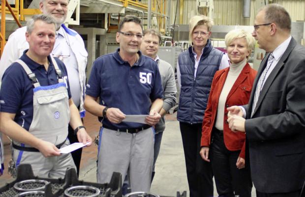 Idee des Monats spart Energie im VW-Motorenwerk Salzgitter