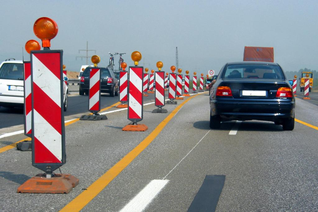 Mehr Unfälle in engen Autobahnbaustellen