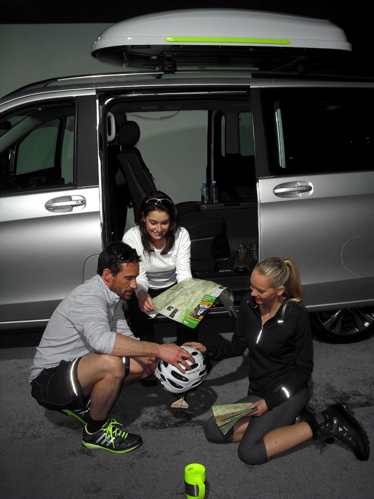Mercedes-V-Klasse: ... Menschen, die ihre Freizeit aktiv gestalten, und ...