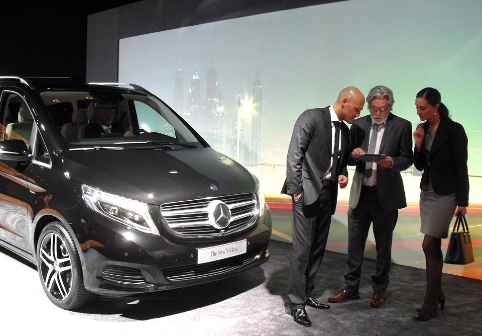 Mercedes-V-Klasse: ... nicht zuletzt die gesamte Business-Klientel bis hin zu Shuttle-Betreibern.