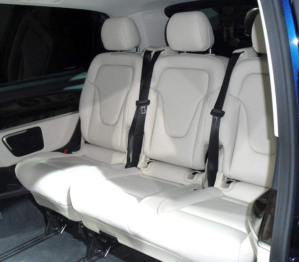 Mercedes-V-Klasse: Es gibt flexibel Platz für bis zu acht Personen.