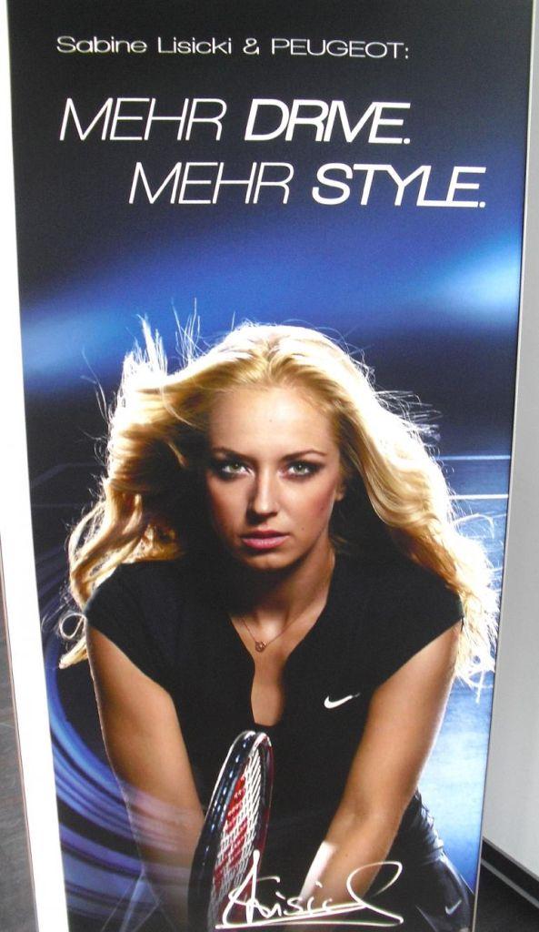 Neue Markenbotschafterin für Peugeot Deutschland: Tennisspielerin Sabine Lisicki.