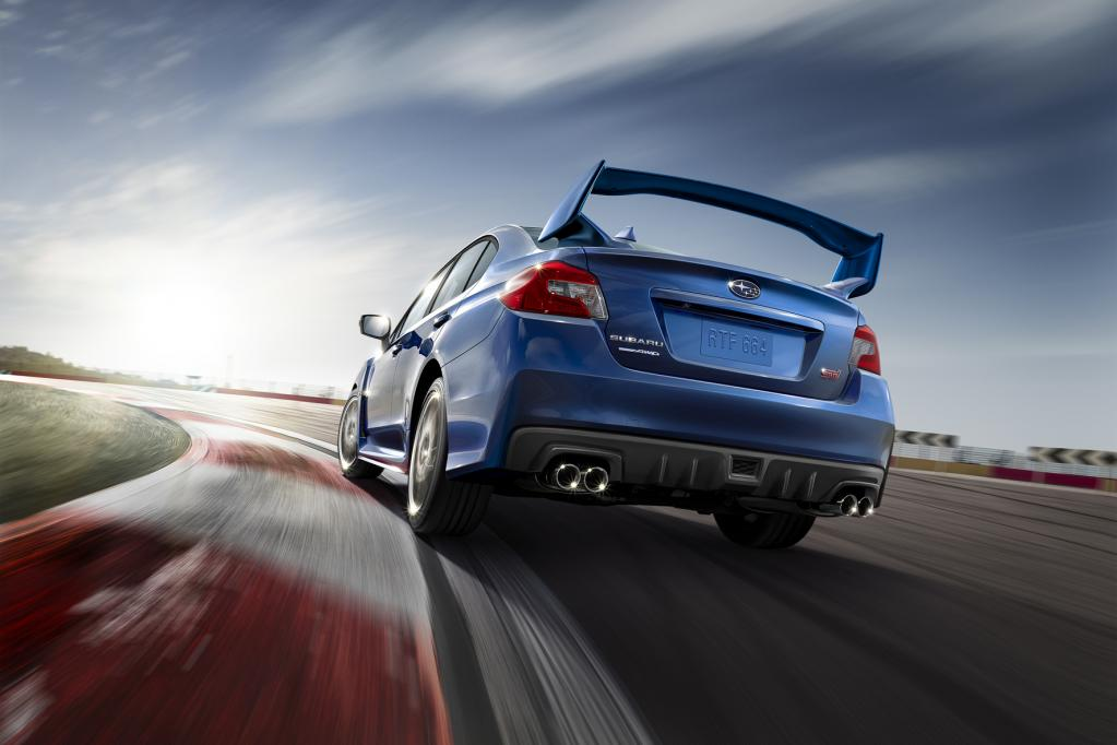 Nummer Fünf klebt: Der neue Subaru WRX STI steht auf der Startlinie