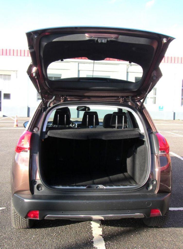 Peugeot 2008: Das Gepäckabteil fasst 360 bis 1194 Liter.