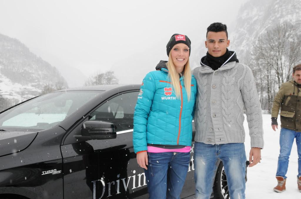 Snowboard-Lehrstunde für Mercedes-Benz DTM-Pilot Pascal Wehrlein