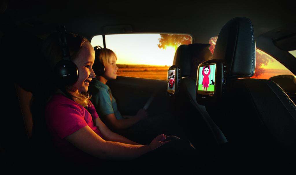 Toyota bringt Entertainment in die zweite Sitzreihe