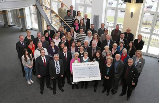 Volkswagen-Mitarbeiter unterstützen 24 soziale Organisationen