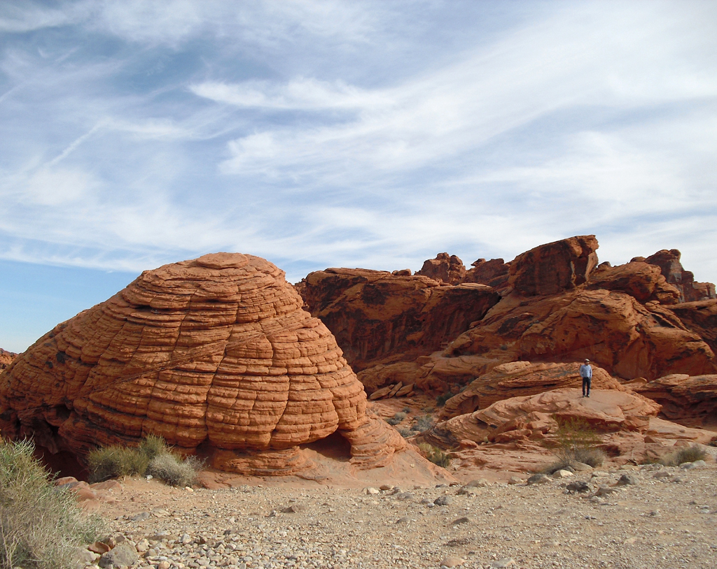 Wind und Wetter haben unterschiedliche Felsformationen wie diese geschaffen.