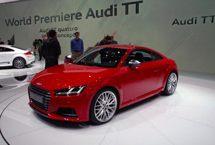 Auch den noch sportlicheren TTS hat Audi in Genf schon gezeigt ...
