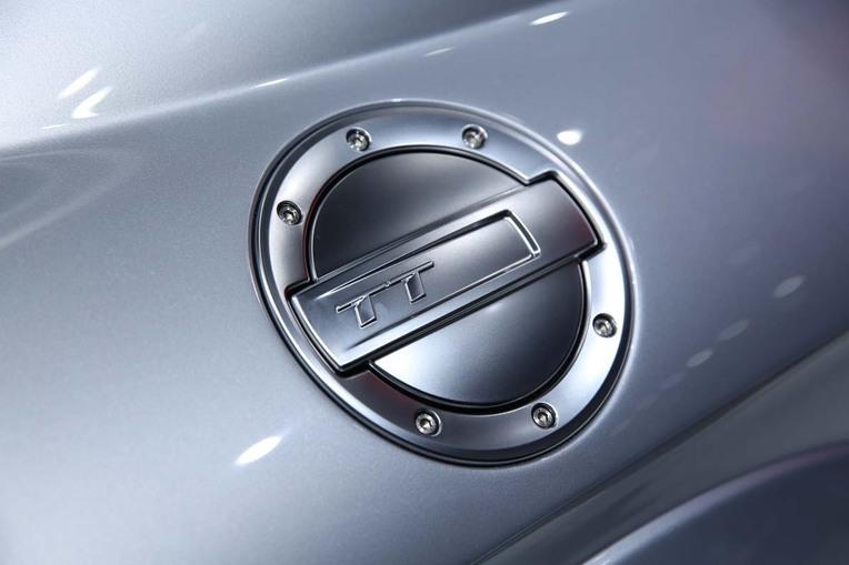 Auch ein Designmerkmal: Tankdeckel des TT-Coupés von Audi.