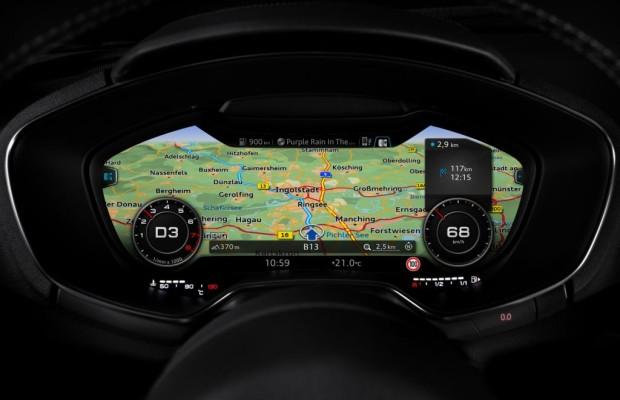 Audi TT mit neuer Display-Technik - Virtueller Durchblick in HD