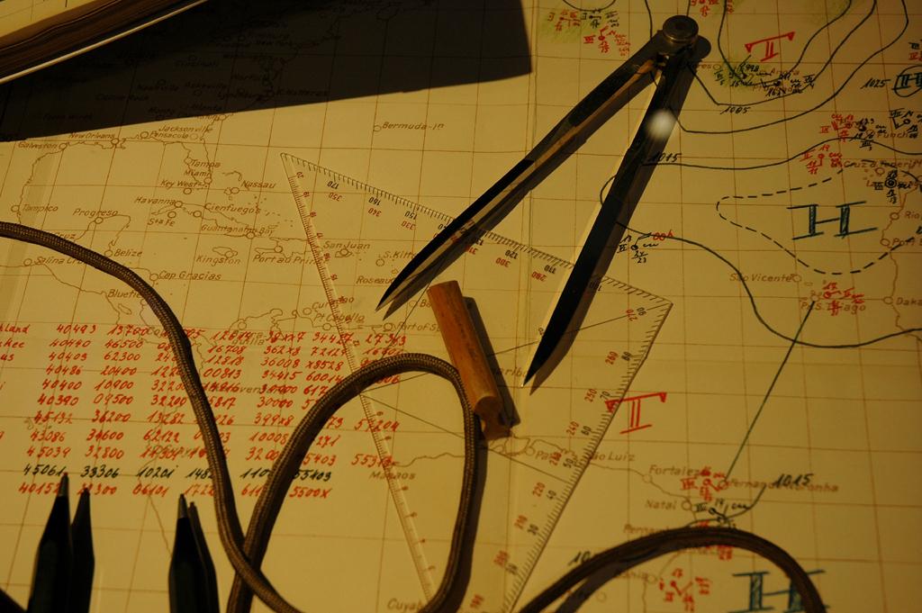 Ausstellungsstück zur Routenplanung.