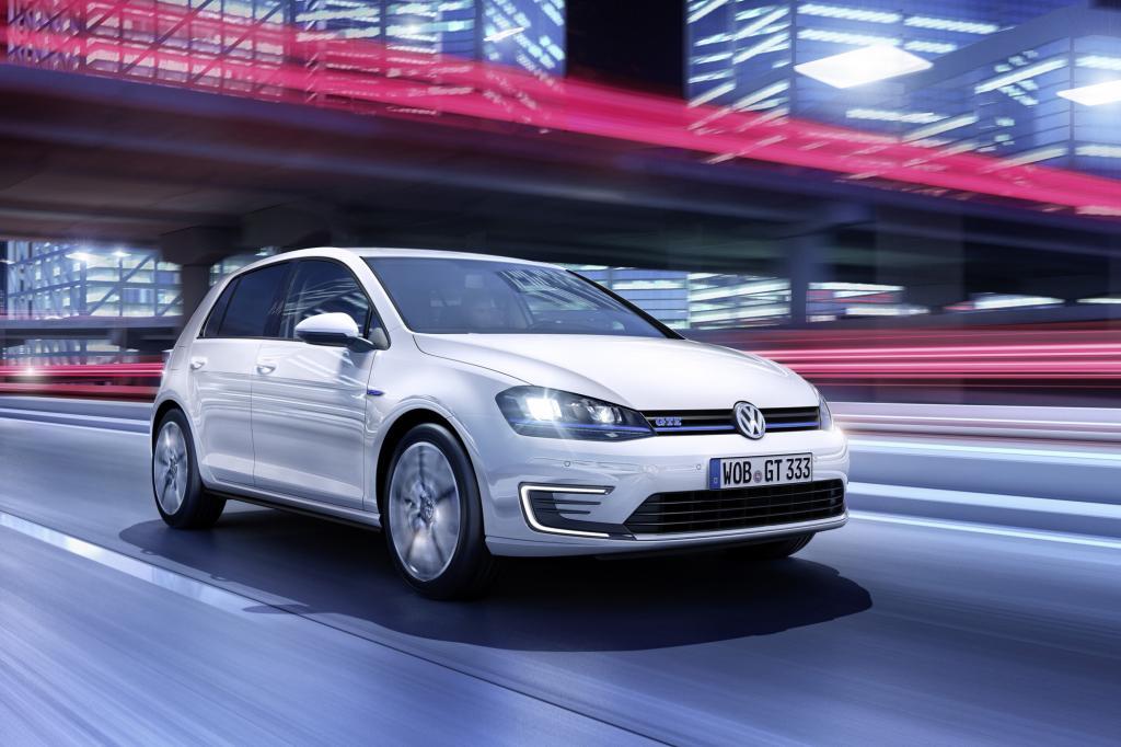 Bei Volkswagen feiert der Golf GTE mit Plug-in-Technik seine Premiere