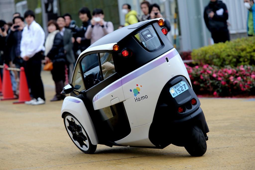 Car-Sharing mit dem Dreirad von Toyota