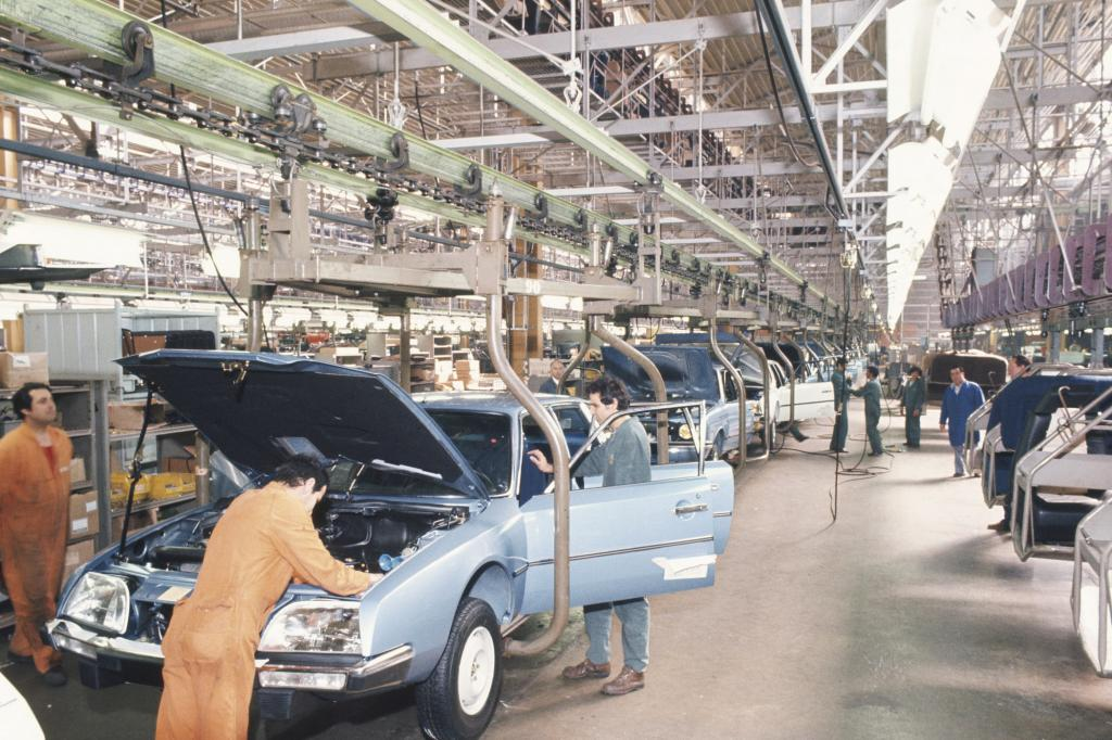 Citroen CX Produktion im Werk Aulnay 1975