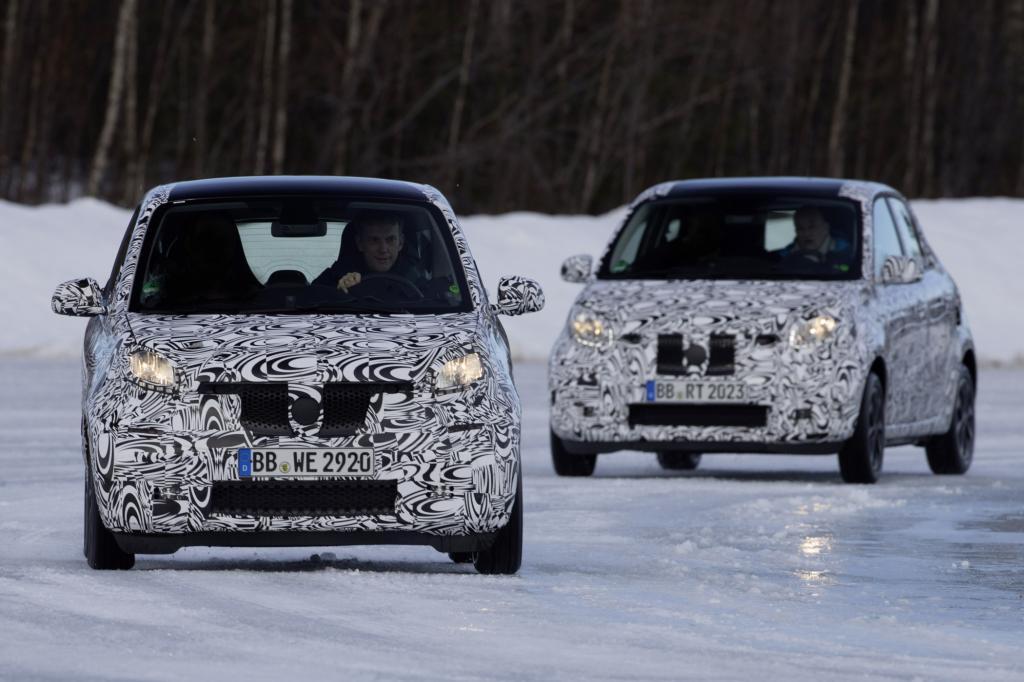Daimler testet den neuen Smart in Schweden
