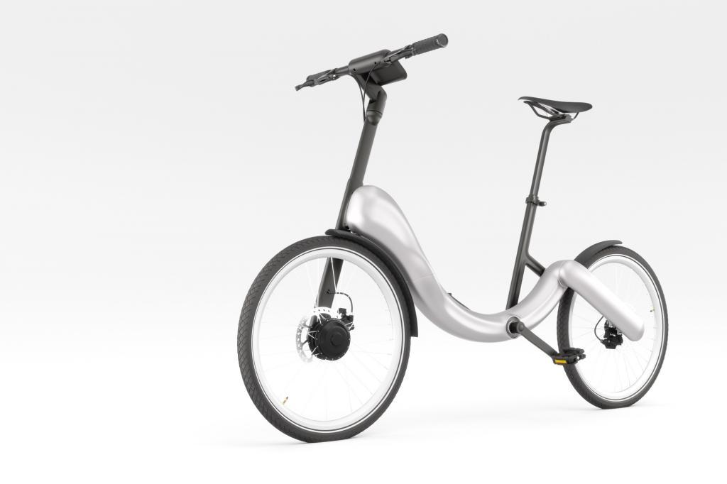 Das Jive E-Bike ist faltbar, lässt die Hosenbeine in Ruhe und sieht dabei auch noch ganz hübsch aus.