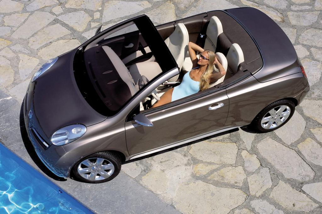 Den offenen Nissan Micra sieht man nicht oft im Straßenbild - Foto: Nissan