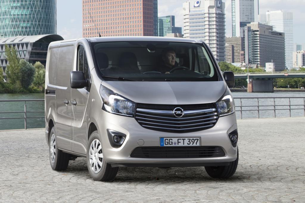 Der Transporter übernimmt Designelemente von Opel-Pkw