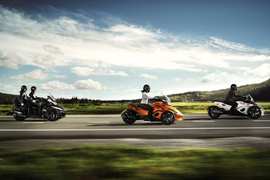 Die drei Varianten vom Can-Am Spyder haben deutlich mehr zu bieten, als man ihnen auf den ersten Blick zutraut.