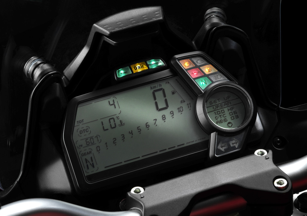 Ducati Multistrada mit serienmäßiger Airbag-Jacke