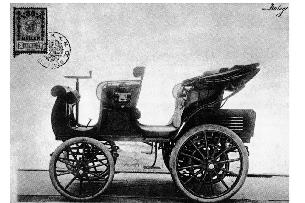 Egger Lohner C2 mit Wertmarke 1898