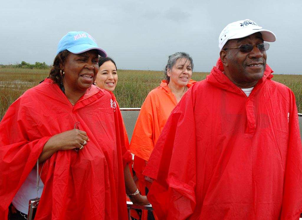 Feuchtgebiet ist Feuchtgebiet: Besucher stört selbst Regen nicht.