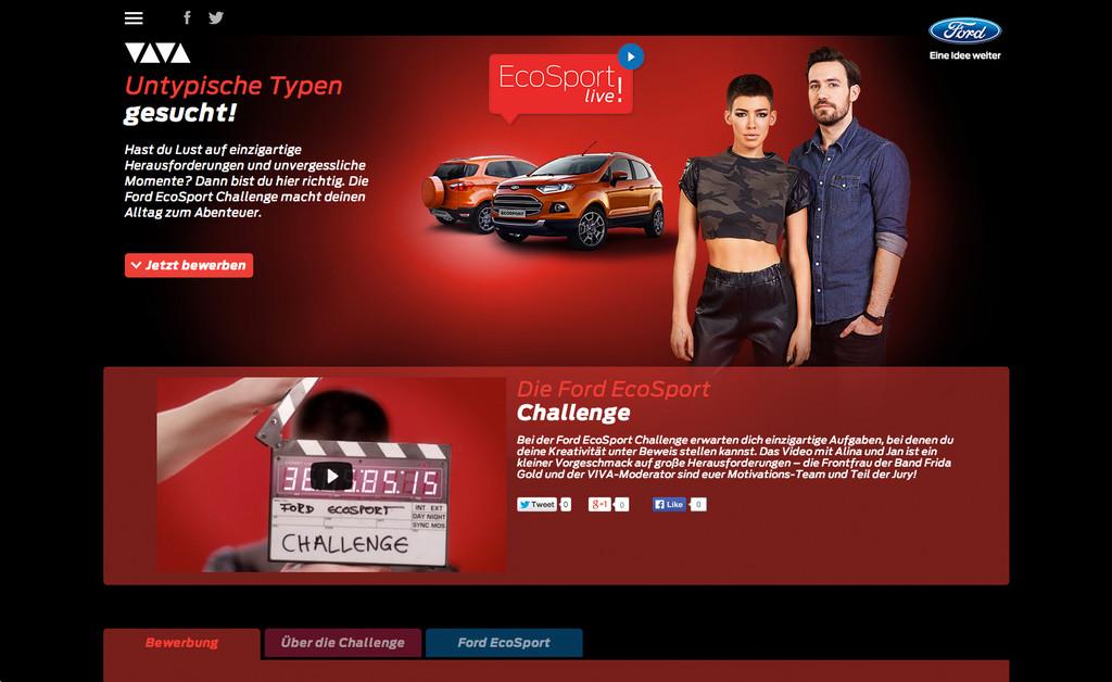 Ford Ecosport startet mit Online-Challenge