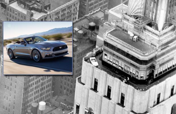 Ford Mustang feiert 50. Geburtstag auf dem Empire State Building