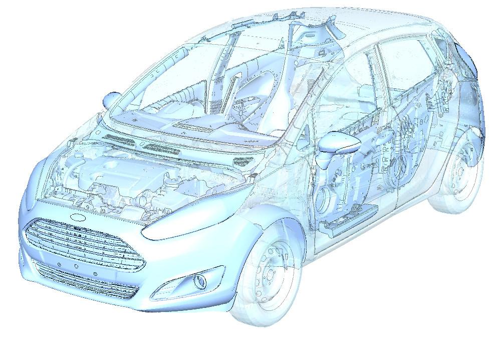 Ford führt virtuelle Tests zur Entwicklung von Kunststoff-Komponenten durch