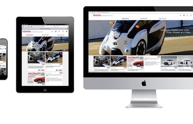 Globale Toyota-Webseite überarbeitet