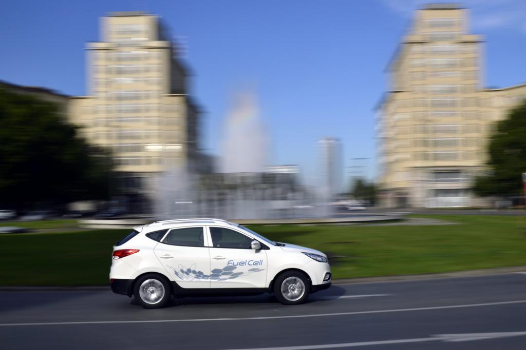 Hyundai hat mit dem ix35 Fuel Cell ein Brennstoffzellenauto im Programm