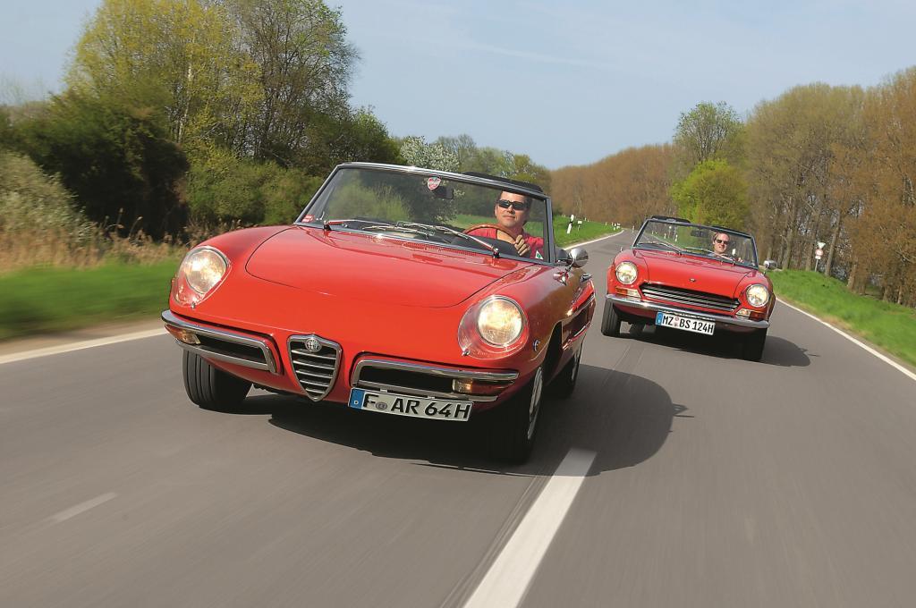 Italienische Verführer: Alfa Spider und Fiat Spider