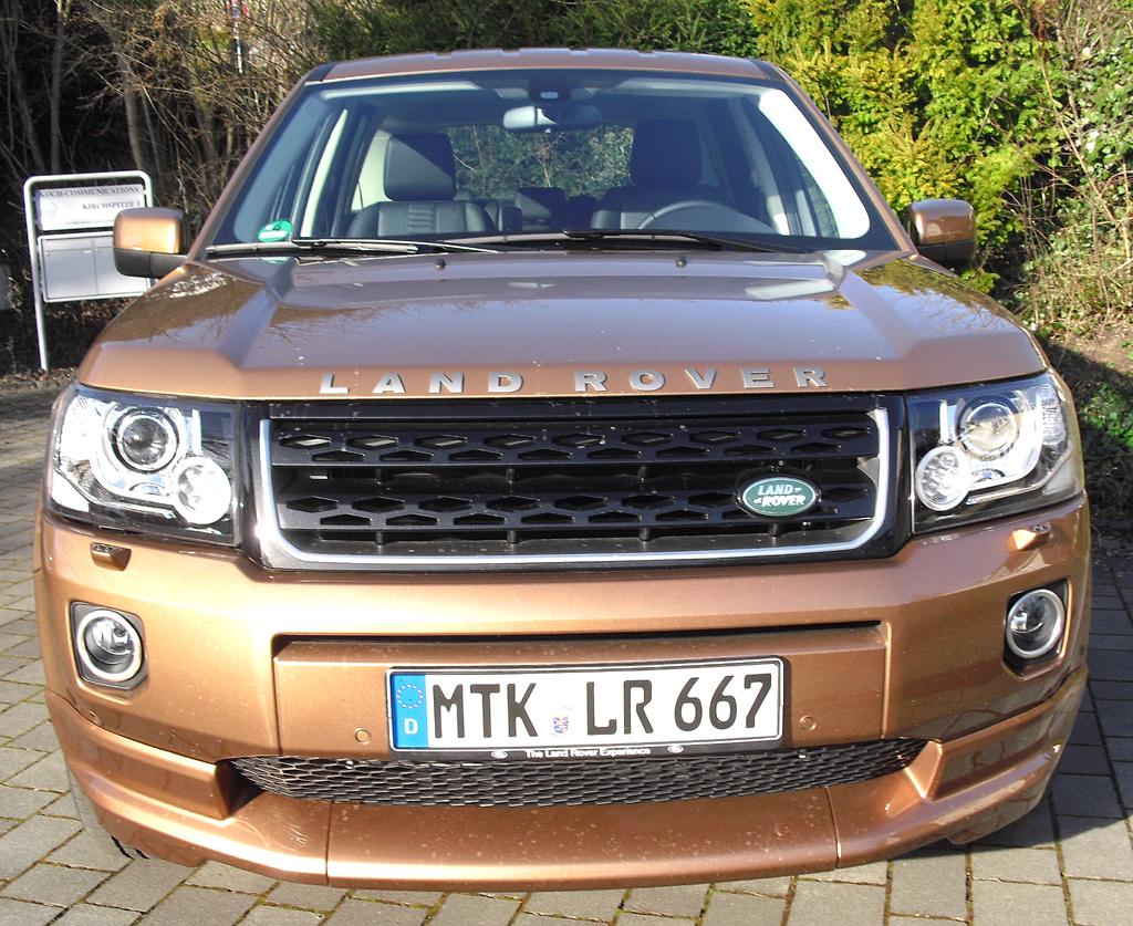 Land Rover Freelander: Blick auf die Frontpartie.