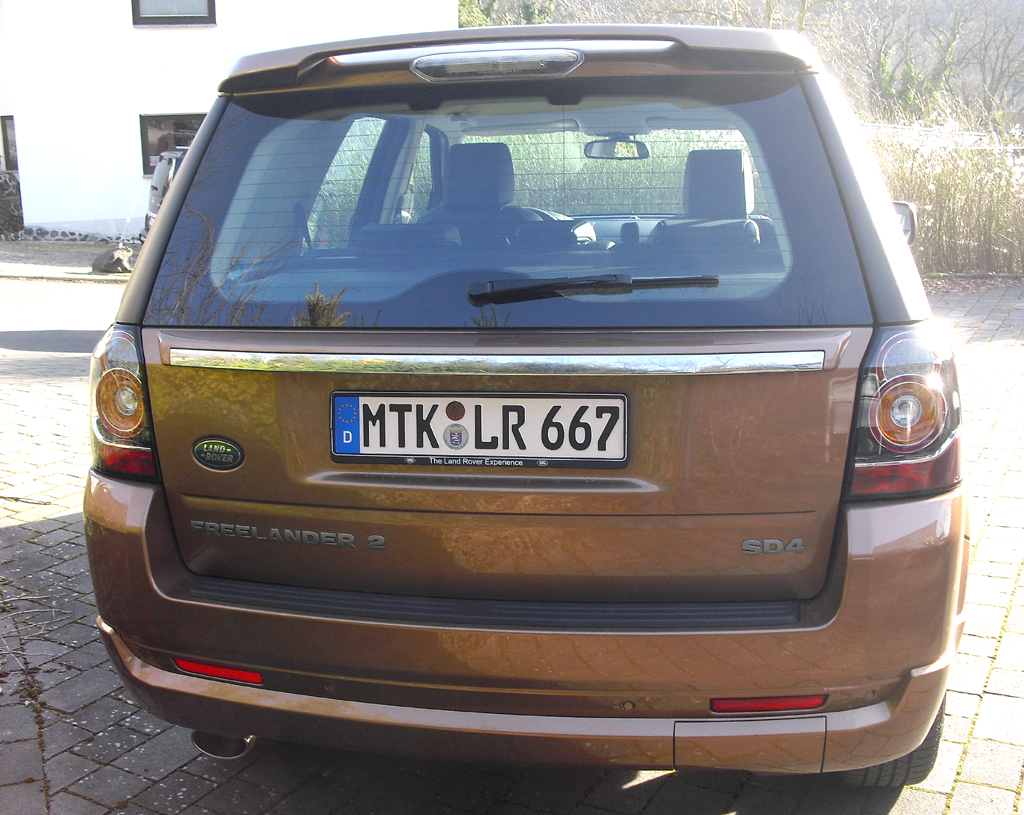 Land Rover Freelander: Blick auf die Heckpartie.