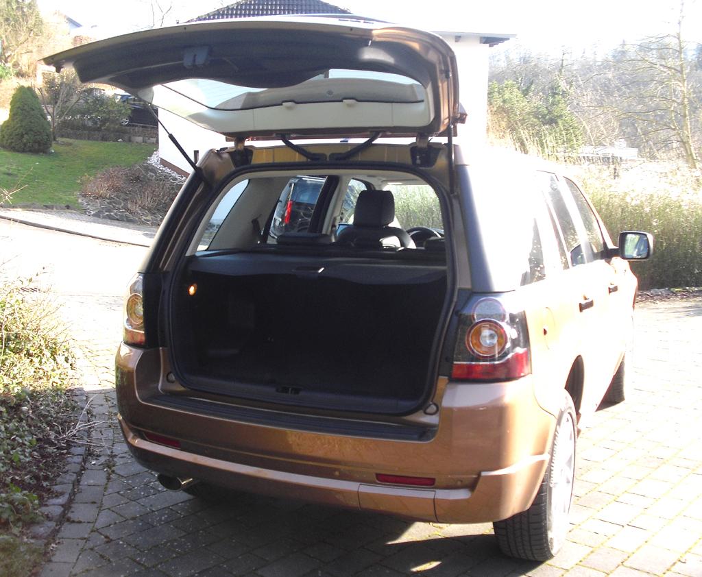 Land Rover Freelander: Das Gepäckabteil fasst bis zu 1670 Liter.