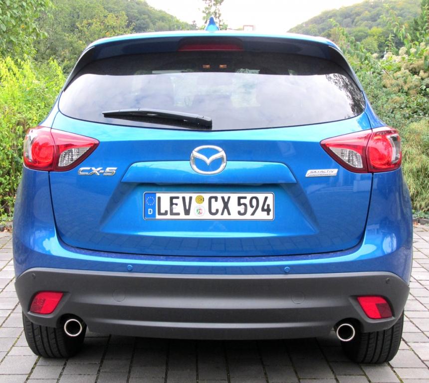 Mazda CX-5: Blick auf die Heckpartie.