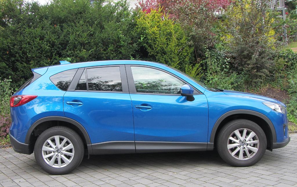 Mazda CX-5: Und so sieht das kompakte SUV-Modell von der Seite aus.