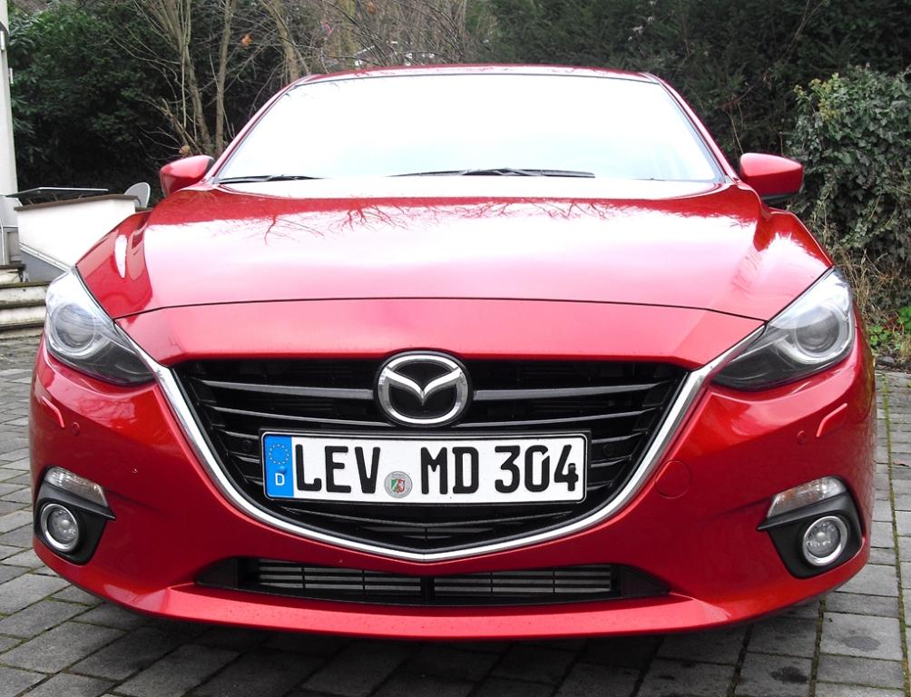 Mazda3: Blick auf die Frontpartie.