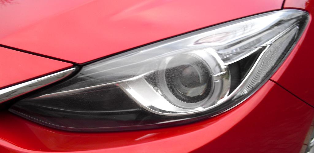 Mazda3: Moderne Leuchteinheit vorn.