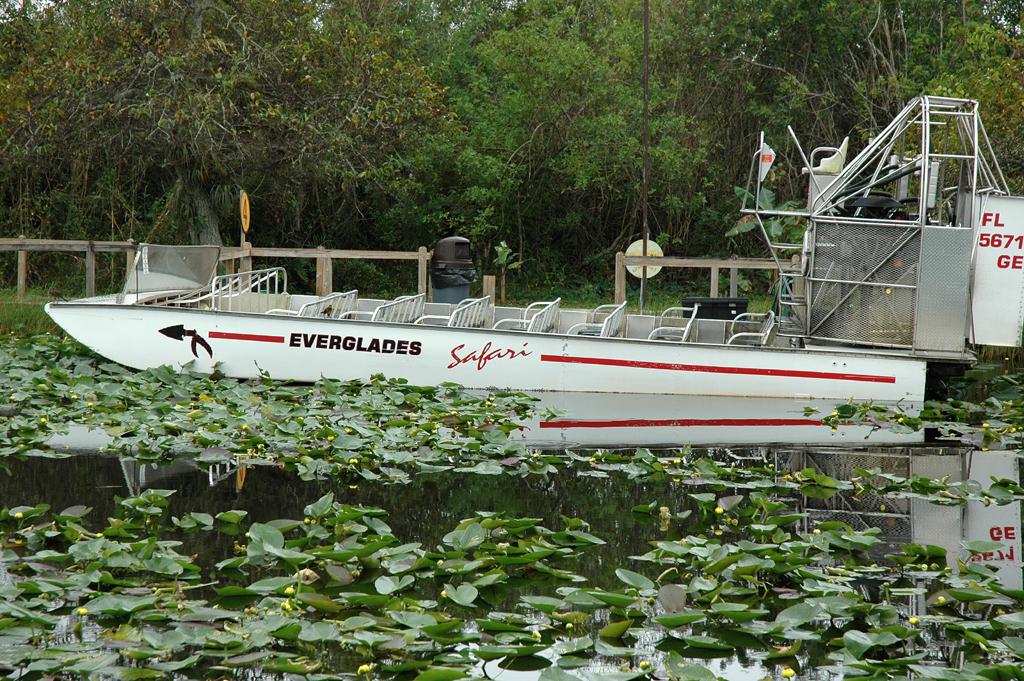 Mit Luftpropellerantrieb: Airboat im Everglades Safari Park.