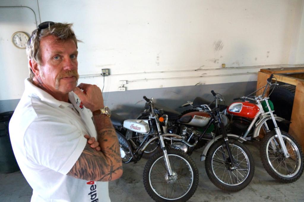 Mit der seltenen Indian-Geländemaschine soll laut Borrmann schon Steve Mc Queen gefahren sein.