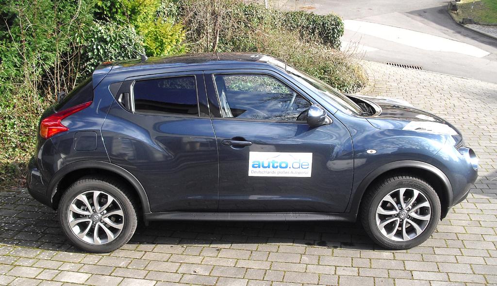 Nissan Juke: So sieht das ungewöhnliche Crossover-Schrägheckmodell von der Seite aus.