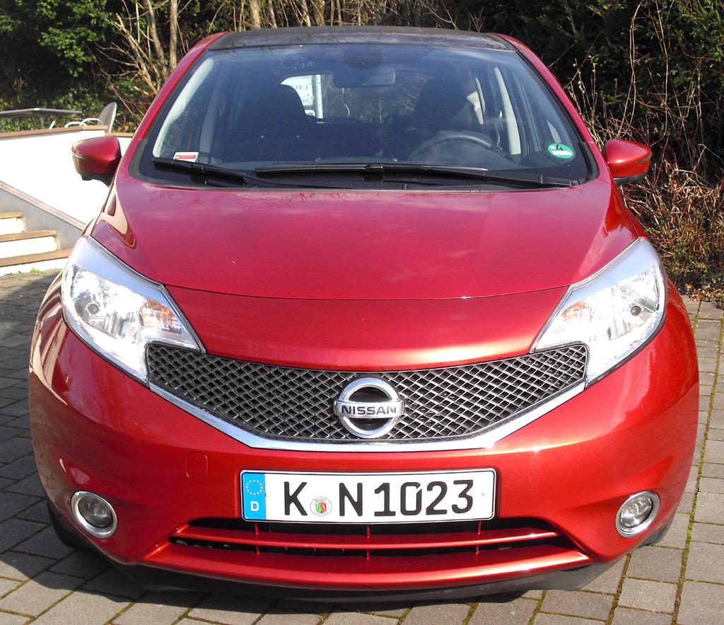 Nissan Note: Blick auf die Frontpartie.